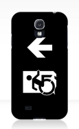 Accessible Exit Sign Project Wheelchair Wheelie Running Man Symbol Means of Egress Icon Disability Emergency Evacuation Fire Safety Samsung Galaxy Case 161