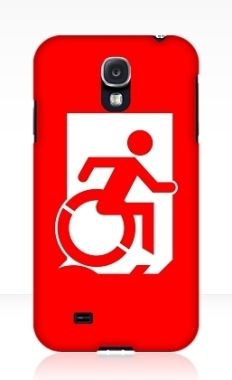 Accessible Exit Sign Project Wheelchair Wheelie Running Man Symbol Means of Egress Icon Disability Emergency Evacuation Fire Safety Samsung Galaxy Case 162
