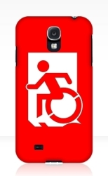 Accessible Exit Sign Project Wheelchair Wheelie Running Man Symbol Means of Egress Icon Disability Emergency Evacuation Fire Safety Samsung Galaxy Case 163