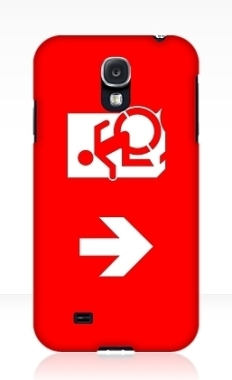 Accessible Exit Sign Project Wheelchair Wheelie Running Man Symbol Means of Egress Icon Disability Emergency Evacuation Fire Safety Samsung Galaxy Case 164