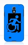 Accessible Exit Sign Project Wheelchair Wheelie Running Man Symbol Means of Egress Icon Disability Emergency Evacuation Fire Safety Samsung Galaxy Case 1