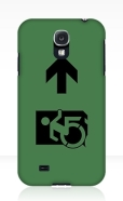 Accessible Exit Sign Project Wheelchair Wheelie Running Man Symbol Means of Egress Icon Disability Emergency Evacuation Fire Safety Samsung Galaxy Case 17