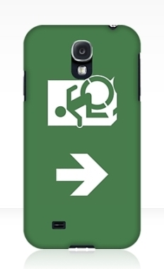 Accessible Exit Sign Project Wheelchair Wheelie Running Man Symbol Means of Egress Icon Disability Emergency Evacuation Fire Safety Samsung Galaxy Case 19