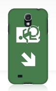 Accessible Exit Sign Project Wheelchair Wheelie Running Man Symbol Means of Egress Icon Disability Emergency Evacuation Fire Safety Samsung Galaxy Case 20