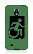 Accessible Exit Sign Project Wheelchair Wheelie Running Man Symbol Means of Egress Icon Disability Emergency Evacuation Fire Safety Samsung Galaxy Case 2