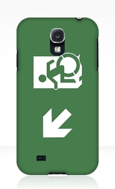Accessible Exit Sign Project Wheelchair Wheelie Running Man Symbol Means of Egress Icon Disability Emergency Evacuation Fire Safety Samsung Galaxy Case 21