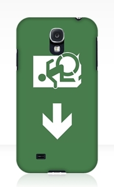 Accessible Exit Sign Project Wheelchair Wheelie Running Man Symbol Means of Egress Icon Disability Emergency Evacuation Fire Safety Samsung Galaxy Case 22