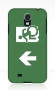 Accessible Exit Sign Project Wheelchair Wheelie Running Man Symbol Means of Egress Icon Disability Emergency Evacuation Fire Safety Samsung Galaxy Case 23