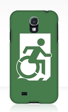 Accessible Exit Sign Project Wheelchair Wheelie Running Man Symbol Means of Egress Icon Disability Emergency Evacuation Fire Safety Samsung Galaxy Case 24
