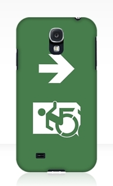 Accessible Exit Sign Project Wheelchair Wheelie Running Man Symbol Means of Egress Icon Disability Emergency Evacuation Fire Safety Samsung Galaxy Case 25