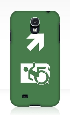 Accessible Exit Sign Project Wheelchair Wheelie Running Man Symbol Means of Egress Icon Disability Emergency Evacuation Fire Safety Samsung Galaxy Case 26