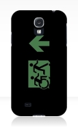 Accessible Exit Sign Project Wheelchair Wheelie Running Man Symbol Means of Egress Icon Disability Emergency Evacuation Fire Safety Samsung Galaxy Case 27