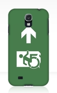 Accessible Exit Sign Project Wheelchair Wheelie Running Man Symbol Means of Egress Icon Disability Emergency Evacuation Fire Safety Samsung Galaxy Case 28
