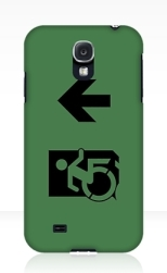 Accessible Exit Sign Project Wheelchair Wheelie Running Man Symbol Means of Egress Icon Disability Emergency Evacuation Fire Safety Samsung Galaxy Case 29