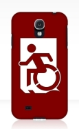 Accessible Exit Sign Project Wheelchair Wheelie Running Man Symbol Means of Egress Icon Disability Emergency Evacuation Fire Safety Samsung Galaxy Case 30