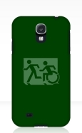 Accessible Exit Sign Project Wheelchair Wheelie Running Man Symbol Means of Egress Icon Disability Emergency Evacuation Fire Safety Samsung Galaxy Case 31