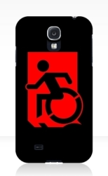 Accessible Exit Sign Project Wheelchair Wheelie Running Man Symbol Means of Egress Icon Disability Emergency Evacuation Fire Safety Samsung Galaxy Case 3