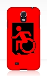 Accessible Exit Sign Project Wheelchair Wheelie Running Man Symbol Means of Egress Icon Disability Emergency Evacuation Fire Safety Samsung Galaxy Case 32
