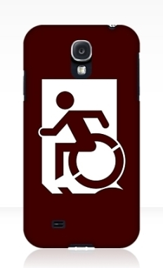 Accessible Exit Sign Project Wheelchair Wheelie Running Man Symbol Means of Egress Icon Disability Emergency Evacuation Fire Safety Samsung Galaxy Case 33