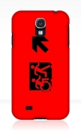 Accessible Exit Sign Project Wheelchair Wheelie Running Man Symbol Means of Egress Icon Disability Emergency Evacuation Fire Safety Samsung Galaxy Case 34