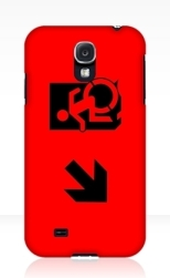 Accessible Exit Sign Project Wheelchair Wheelie Running Man Symbol Means of Egress Icon Disability Emergency Evacuation Fire Safety Samsung Galaxy Case 36