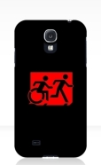 Accessible Exit Sign Project Wheelchair Wheelie Running Man Symbol Means of Egress Icon Disability Emergency Evacuation Fire Safety Samsung Galaxy Case 37