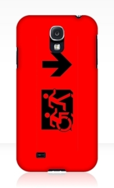 Accessible Exit Sign Project Wheelchair Wheelie Running Man Symbol Means of Egress Icon Disability Emergency Evacuation Fire Safety Samsung Galaxy Case 38
