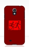 Accessible Exit Sign Project Wheelchair Wheelie Running Man Symbol Means of Egress Icon Disability Emergency Evacuation Fire Safety Samsung Galaxy Case 39