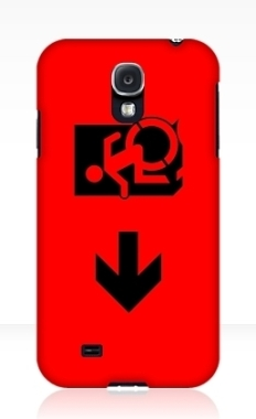 Accessible Exit Sign Project Wheelchair Wheelie Running Man Symbol Means of Egress Icon Disability Emergency Evacuation Fire Safety Samsung Galaxy Case 40