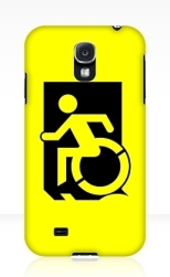 Accessible Exit Sign Project Wheelchair Wheelie Running Man Symbol Means of Egress Icon Disability Emergency Evacuation Fire Safety Samsung Galaxy Case 4
