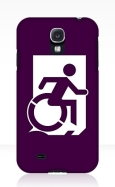 Accessible Exit Sign Project Wheelchair Wheelie Running Man Symbol Means of Egress Icon Disability Emergency Evacuation Fire Safety Samsung Galaxy Case 41