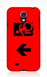 Accessible Exit Sign Project Wheelchair Wheelie Running Man Symbol Means of Egress Icon Disability Emergency Evacuation Fire Safety Samsung Galaxy Case 42