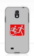Accessible Exit Sign Project Wheelchair Wheelie Running Man Symbol Means of Egress Icon Disability Emergency Evacuation Fire Safety Samsung Galaxy Case 43