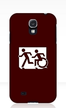 Accessible Exit Sign Project Wheelchair Wheelie Running Man Symbol Means of Egress Icon Disability Emergency Evacuation Fire Safety Samsung Galaxy Case 45