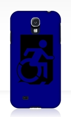Accessible Exit Sign Project Wheelchair Wheelie Running Man Symbol Means of Egress Icon Disability Emergency Evacuation Fire Safety Samsung Galaxy Case 46