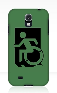 Accessible Exit Sign Project Wheelchair Wheelie Running Man Symbol Means of Egress Icon Disability Emergency Evacuation Fire Safety Samsung Galaxy Case 47
