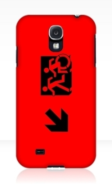 Accessible Exit Sign Project Wheelchair Wheelie Running Man Symbol Means of Egress Icon Disability Emergency Evacuation Fire Safety Samsung Galaxy Case 48