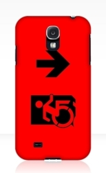 Accessible Exit Sign Project Wheelchair Wheelie Running Man Symbol Means of Egress Icon Disability Emergency Evacuation Fire Safety Samsung Galaxy Case 49