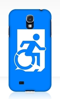 Accessible Exit Sign Project Wheelchair Wheelie Running Man Symbol Means of Egress Icon Disability Emergency Evacuation Fire Safety Samsung Galaxy Case 50