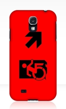 Accessible Exit Sign Project Wheelchair Wheelie Running Man Symbol Means of Egress Icon Disability Emergency Evacuation Fire Safety Samsung Galaxy Case 51