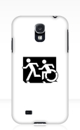 Accessible Exit Sign Project Wheelchair Wheelie Running Man Symbol Means of Egress Icon Disability Emergency Evacuation Fire Safety Samsung Galaxy Case 52