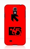 Accessible Exit Sign Project Wheelchair Wheelie Running Man Symbol Means of Egress Icon Disability Emergency Evacuation Fire Safety Samsung Galaxy Case 53