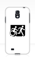 Accessible Exit Sign Project Wheelchair Wheelie Running Man Symbol Means of Egress Icon Disability Emergency Evacuation Fire Safety Samsung Galaxy Case 54