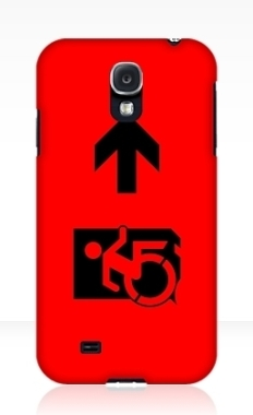 Accessible Exit Sign Project Wheelchair Wheelie Running Man Symbol Means of Egress Icon Disability Emergency Evacuation Fire Safety Samsung Galaxy Case 55