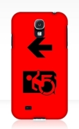 Accessible Exit Sign Project Wheelchair Wheelie Running Man Symbol Means of Egress Icon Disability Emergency Evacuation Fire Safety Samsung Galaxy Case 57