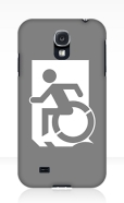 Accessible Exit Sign Project Wheelchair Wheelie Running Man Symbol Means of Egress Icon Disability Emergency Evacuation Fire Safety Samsung Galaxy Case 58