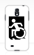 Accessible Exit Sign Project Wheelchair Wheelie Running Man Symbol Means of Egress Icon Disability Emergency Evacuation Fire Safety Samsung Galaxy Case 59