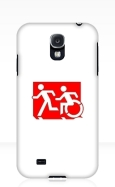 Accessible Exit Sign Project Wheelchair Wheelie Running Man Symbol Means of Egress Icon Disability Emergency Evacuation Fire Safety Samsung Galaxy Case 60