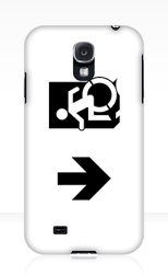 Accessible Exit Sign Project Wheelchair Wheelie Running Man Symbol Means of Egress Icon Disability Emergency Evacuation Fire Safety Samsung Galaxy Case 61