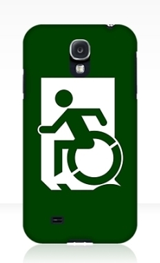 Accessible Exit Sign Project Wheelchair Wheelie Running Man Symbol Means of Egress Icon Disability Emergency Evacuation Fire Safety Samsung Galaxy Case 62